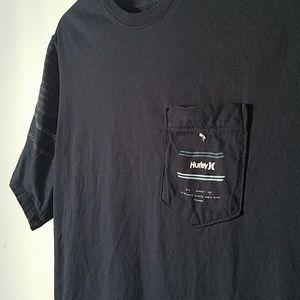 Hurley Shirts - Hurley Striped Sleeves T Shirt